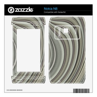 Grey colored line pattern skin for the nokia n8