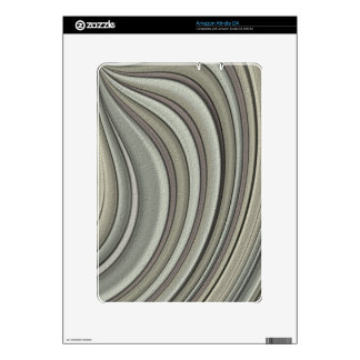 Grey colored line pattern decals for kindle