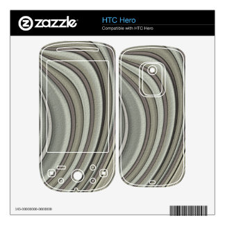 Grey colored line pattern skin for the HTC hero