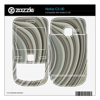 Grey colored line pattern nokia c3-00 decal