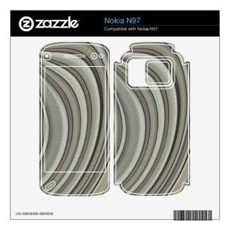Grey colored line pattern nokia n97 decals