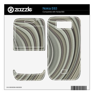 Grey colored line pattern nokia e63 skins