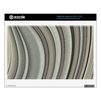 Grey colored line pattern netbook decal
