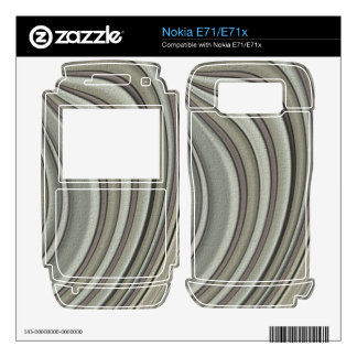 Grey colored line pattern skin for the nokia e71x
