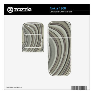 Grey colored line pattern skin for nokia 1208