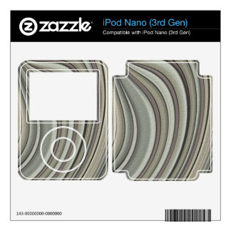 Grey colored line pattern decals for iPod nano
