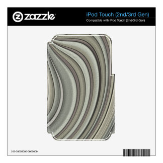 Grey colored line pattern skin for iPod touch 3G