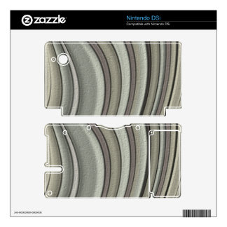 Grey colored line pattern decals for DSi