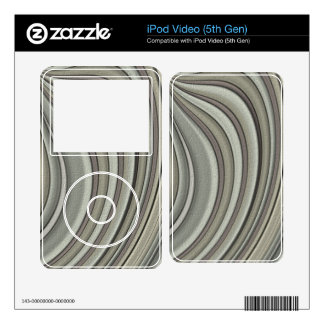 Grey colored line pattern skins for iPod video 5G
