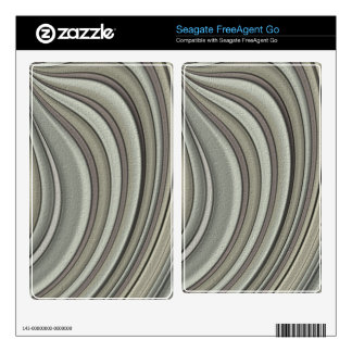Grey colored line pattern decal for FreeAgent go