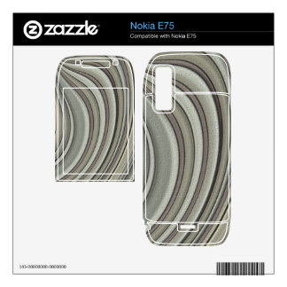 Grey colored line pattern nokia e75 decal