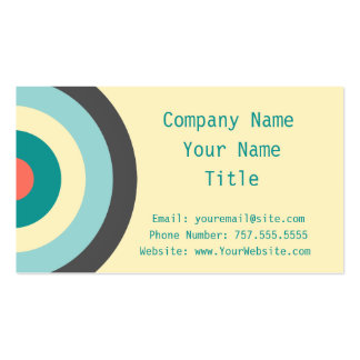 Grey Combination Bullseye Double-Sided Standard Business Cards (Pack Of 100)