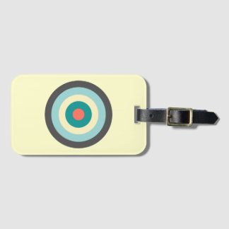Grey Combination Bullseye by Shirley Taylor Luggage Tag