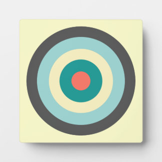 Grey Combination Bullseye by Shirley Taylor Plaque