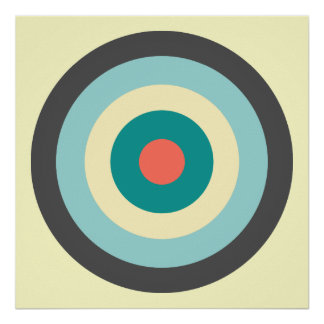 Grey Combination Bullseye by Shirley Taylor Poster
