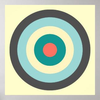 Grey Combination Bullseye by Shirley Taylor Poster