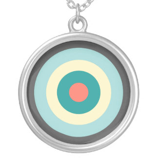 Grey Combination Bullseye by Shirley Taylor Silver Plated Necklace