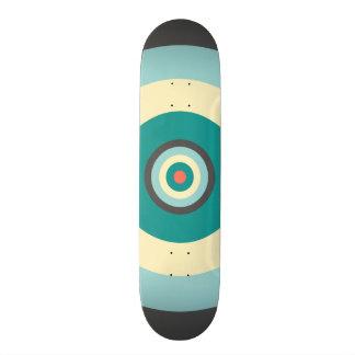 Grey Combination Bullseye by Shirley Taylor Skateboard Deck