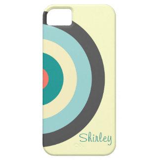 Grey Combination Bullseye iPhone 5 Covers