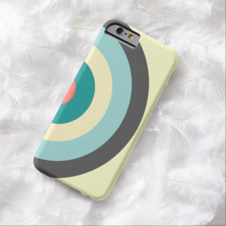 Grey Combination Bullseye Barely There iPhone 6 Case
