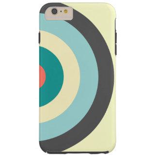 Grey Combination Bullseye Tough iPhone 6 Plus Case