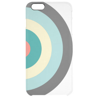 Grey Combination Bullseye Uncommon Clearly™ Deflector iPhone 6 Plus Case