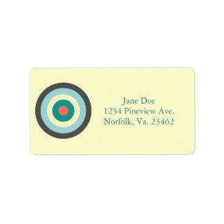 Grey Combination Bullseye Label