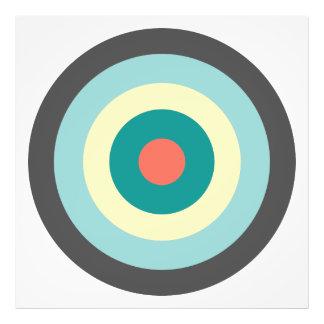 Grey Combination Bullseye Photo Print