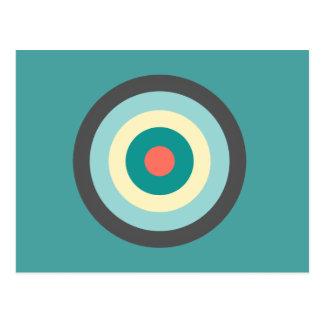 Grey Combination Bullseye Postcard