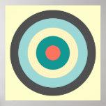 Grey Combination Bullseye Poster