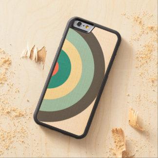 Grey Combination Bullseye Carved® Maple iPhone 6 Bumper