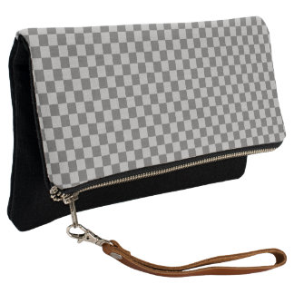 Grey Combination Checkerboard by Shirley Taylor Clutch