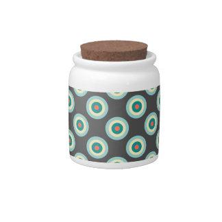 Grey Combination Circles by Shirley Taylor Candy Dish