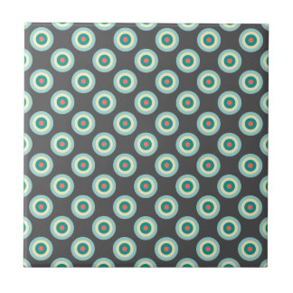 Grey Combination Circles by Shirley Taylor Ceramic Tile