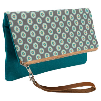 Grey Combination Circles by Shirley Taylor Clutch