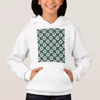 Grey Combination Circles by Shirley Taylor Hoodie