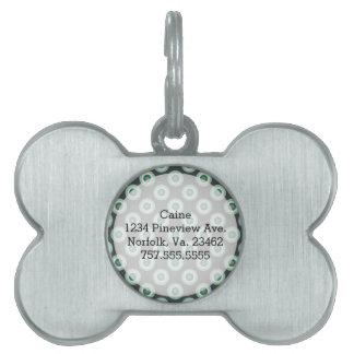 Grey Combination Circles Pet ID Tag