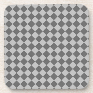 Grey Combination Diamond Pattern by Shirley Taylor Beverage Coaster