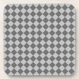 Grey Combination Diamond Pattern Drink Coasters