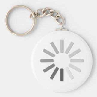 grey computer loading symbol keychain