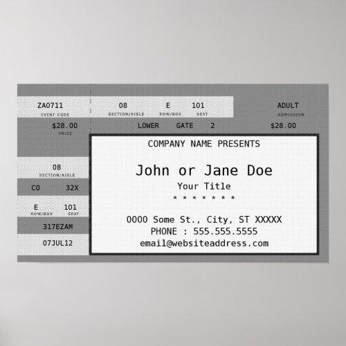 grey concert ticket poster