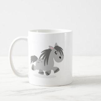 Grey Connemara Pony Cartoon Mug