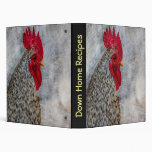Grey Country Rooster Binder