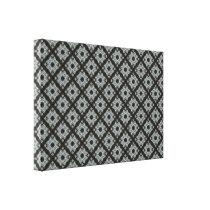 Grey Crisscross pattern Canvas Print