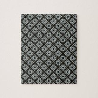 Grey Crisscross pattern Jigsaw Puzzle