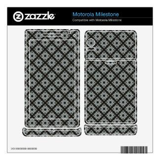 Grey crisscross pattern motorola milestone decals