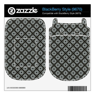 Grey crisscross BlackBerry style skins