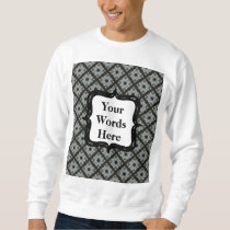 Grey Crisscross Sweatshirt