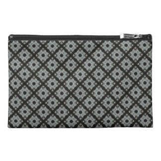 Grey Crisscross Travel Accessories Bag