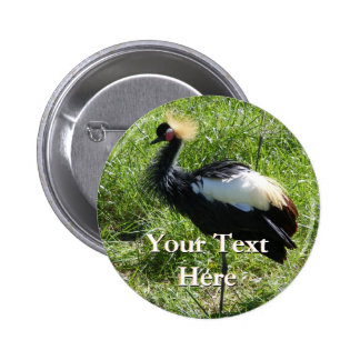 Grey Crowned Crane Button